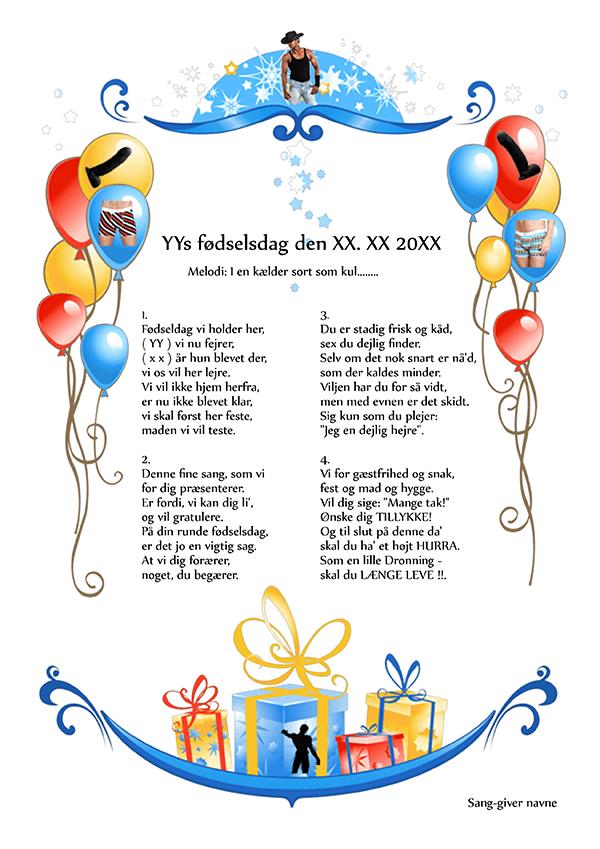 sang 30 års fødselsdag kvinde