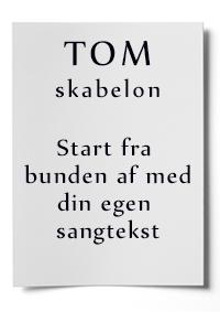 Tom skabelon