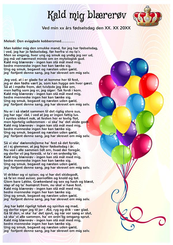 fødselsdagssange 60 år