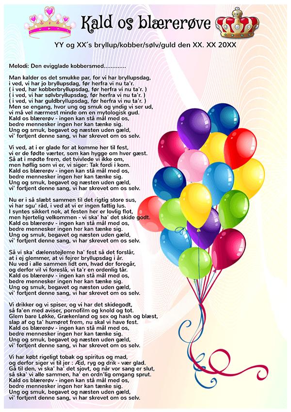 indslag til fødselsdag