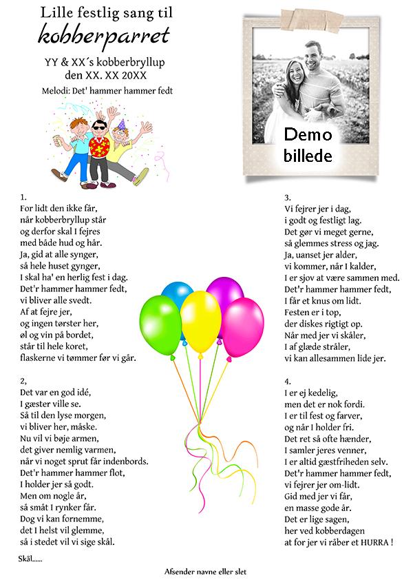 Lille festlig sang til kobberparret design nr 2