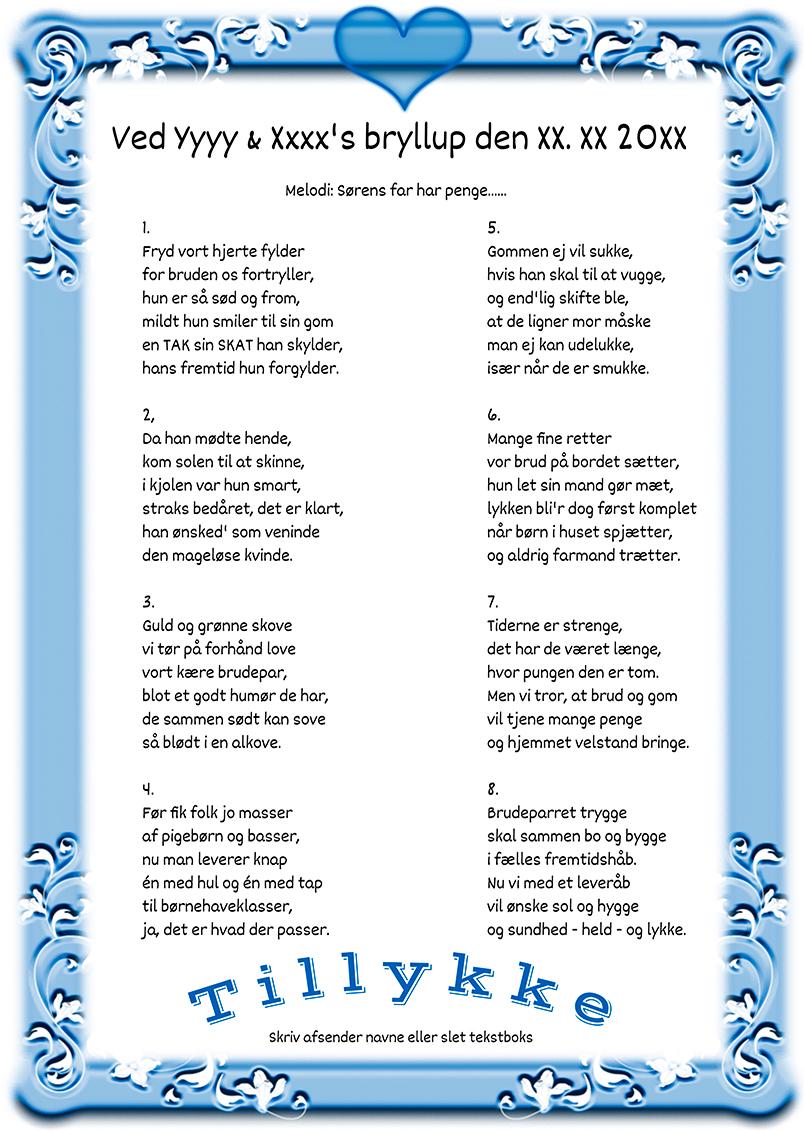 Vise ord til brudeparret