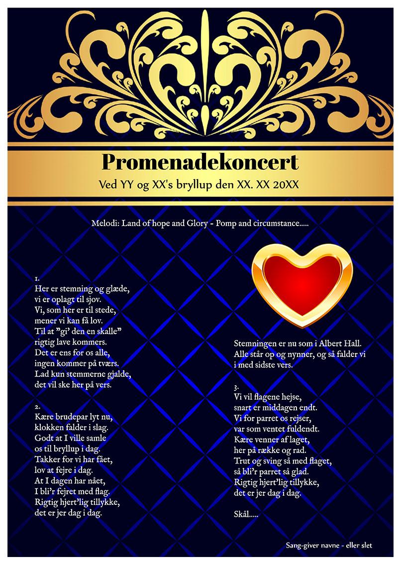 Promenadekoncert til bryllup