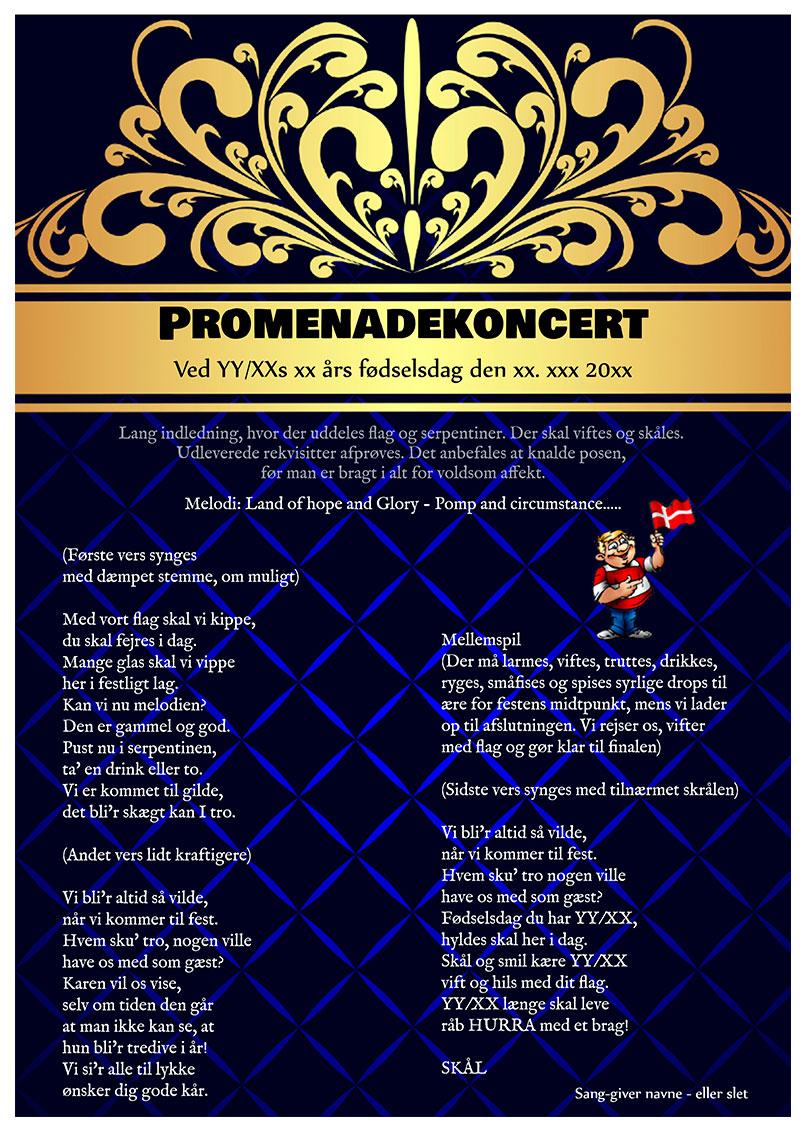 Promenadekoncert til fødselsdag