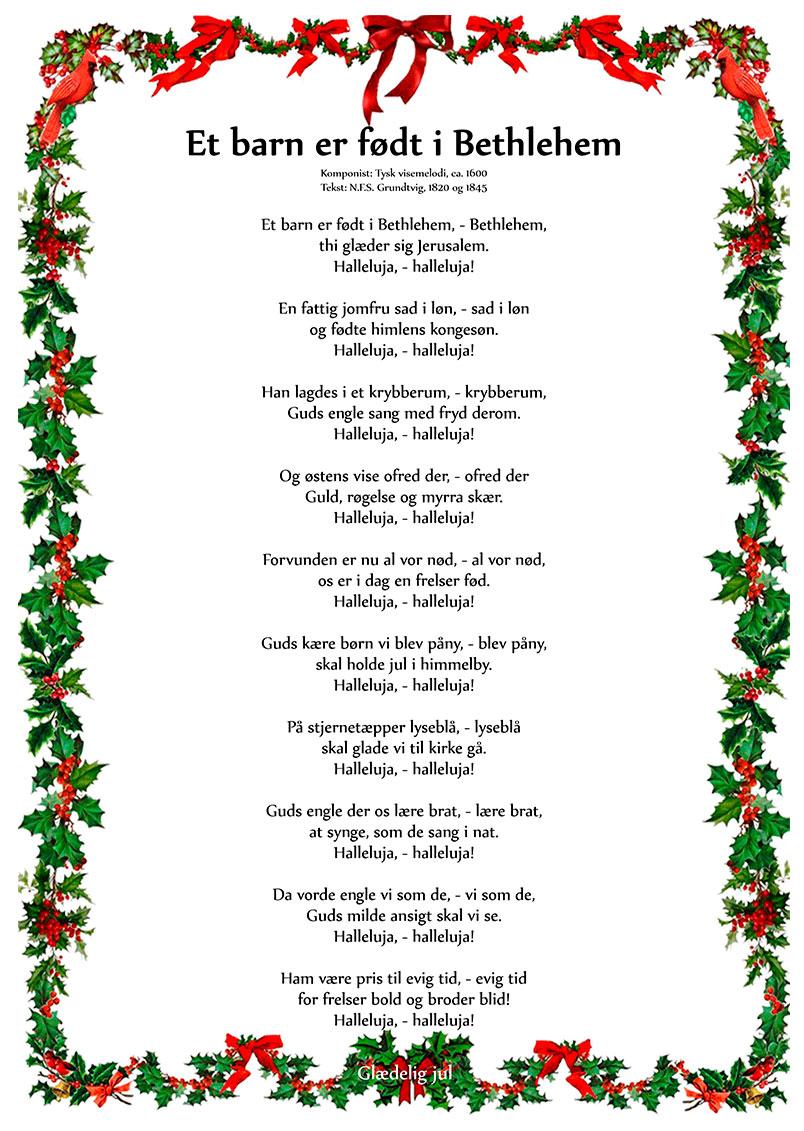 Et barn er født i Bethlehem