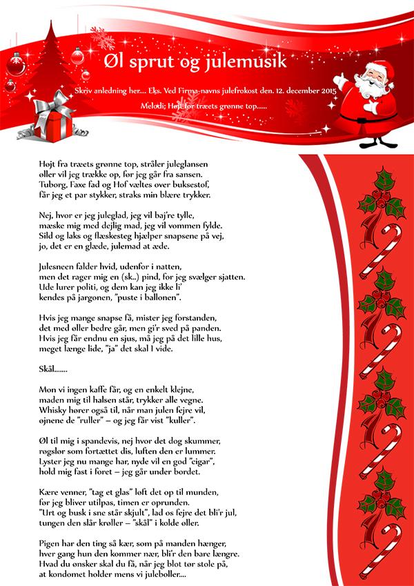 Øl sprut og julemusik