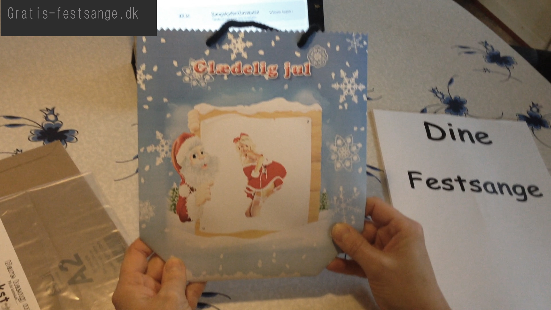 Sang skjuler eller gavepose til julesange nr 7 - universal width=