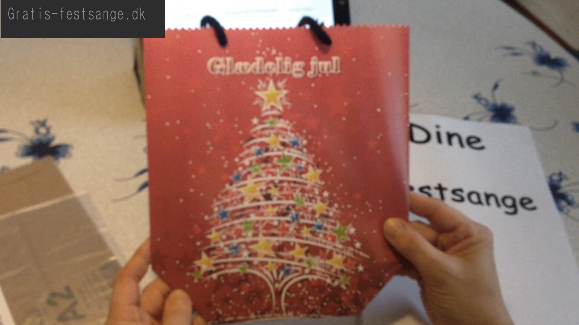 Sang skjuler eller gave pose til julesange nr 8 - universal width=