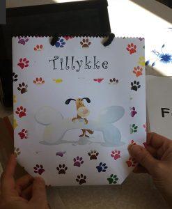 Sangskjuler eller gave pose til sang fra hunden
