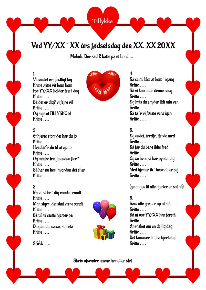 Hjertesang 2 til fødselsdag