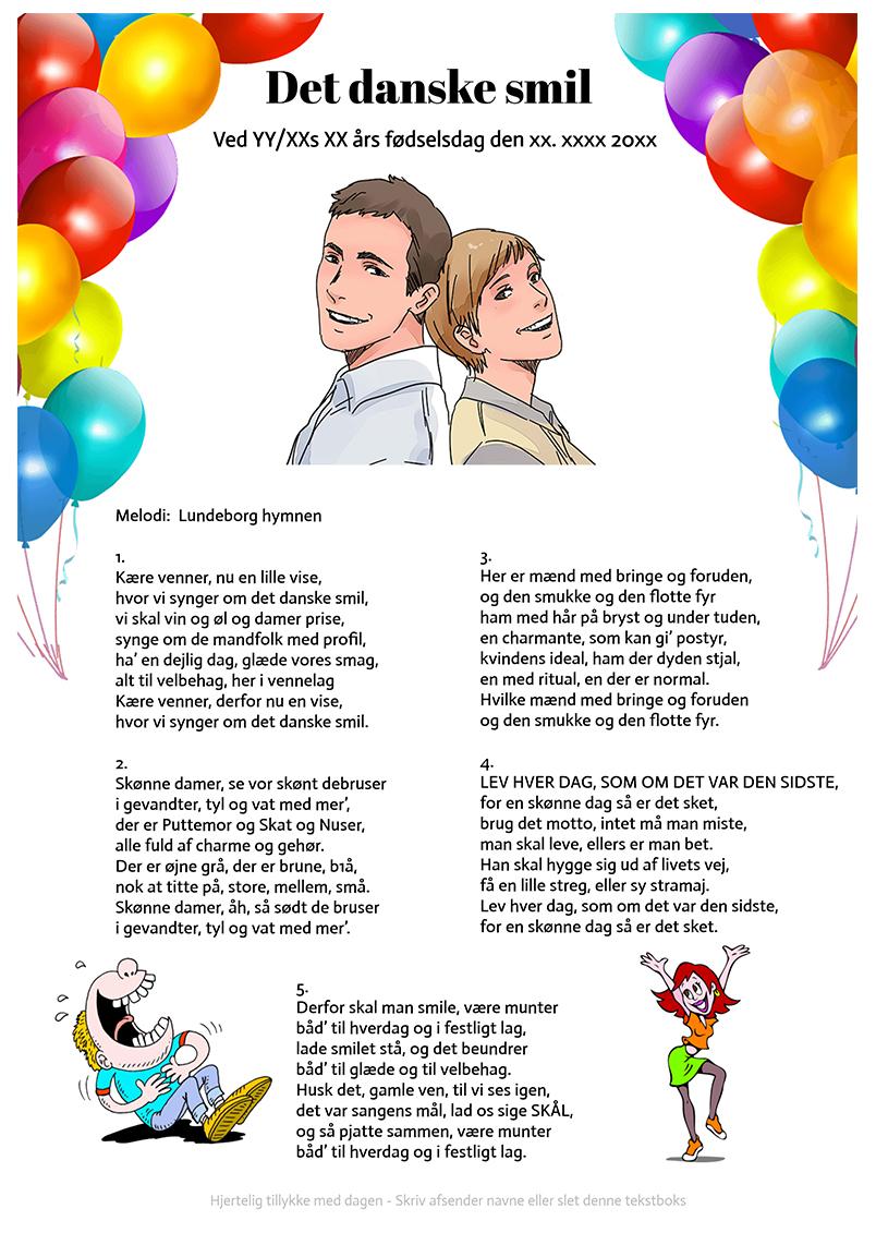 Det danske smil - fødselsdag