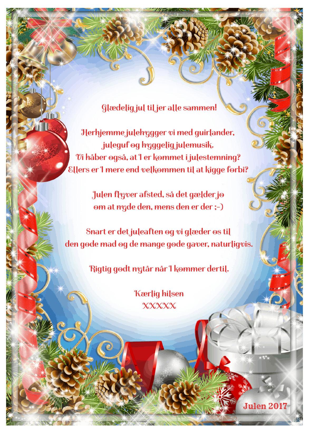 Julekort med musik og sang