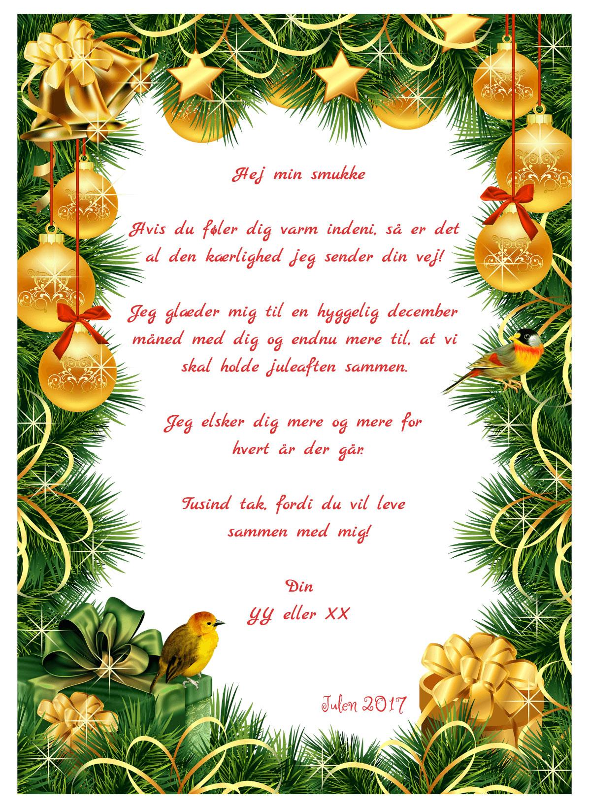 Julekort med musik og sang nr 2
