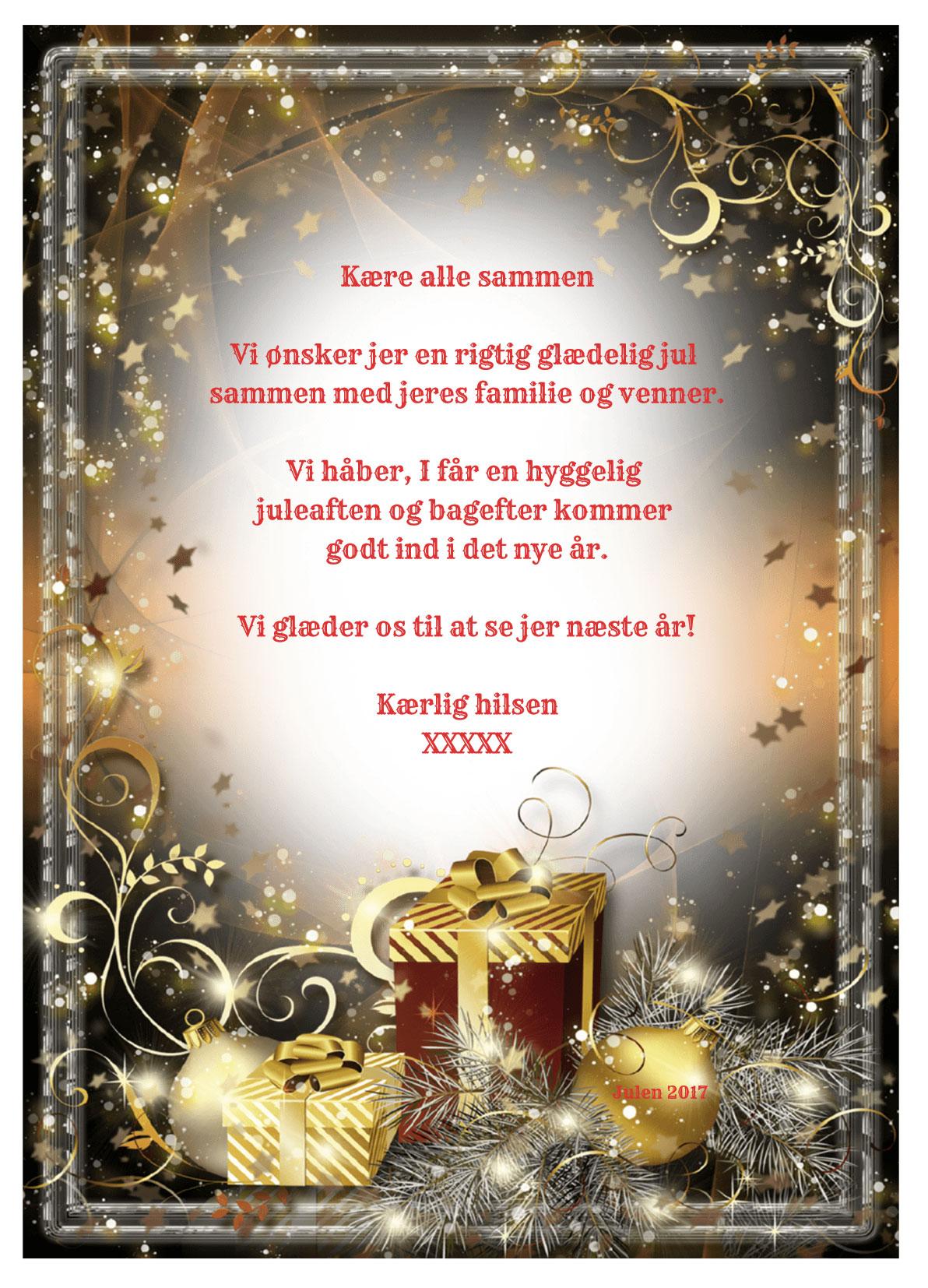 Julekort med musik og sang nr 3