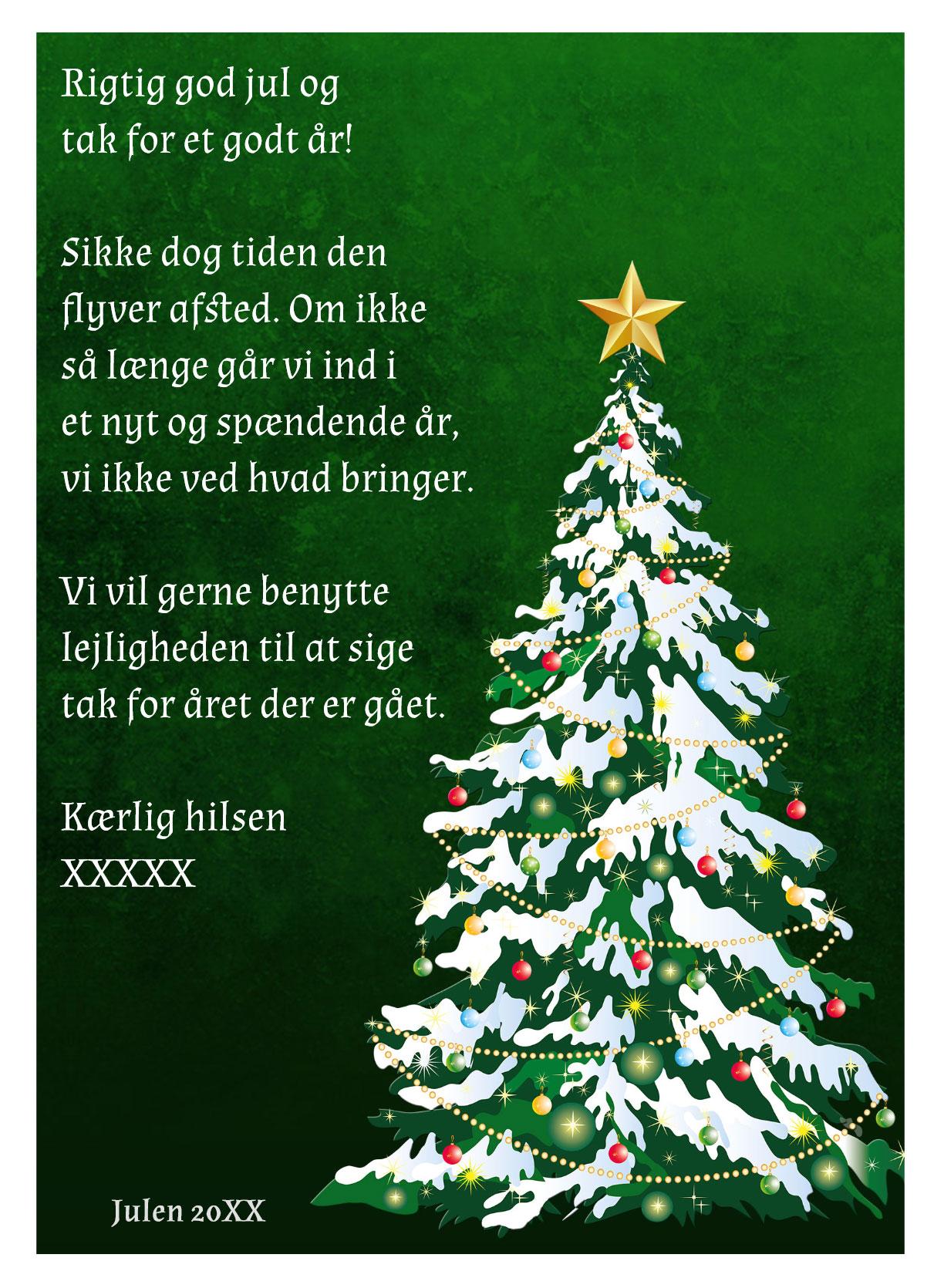 Julekort med musik og sang nr 6