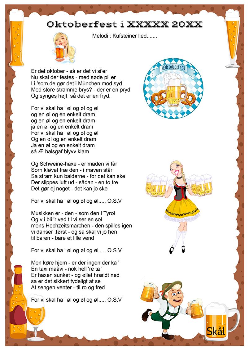 Oktoberfest sangen - Drikkevise