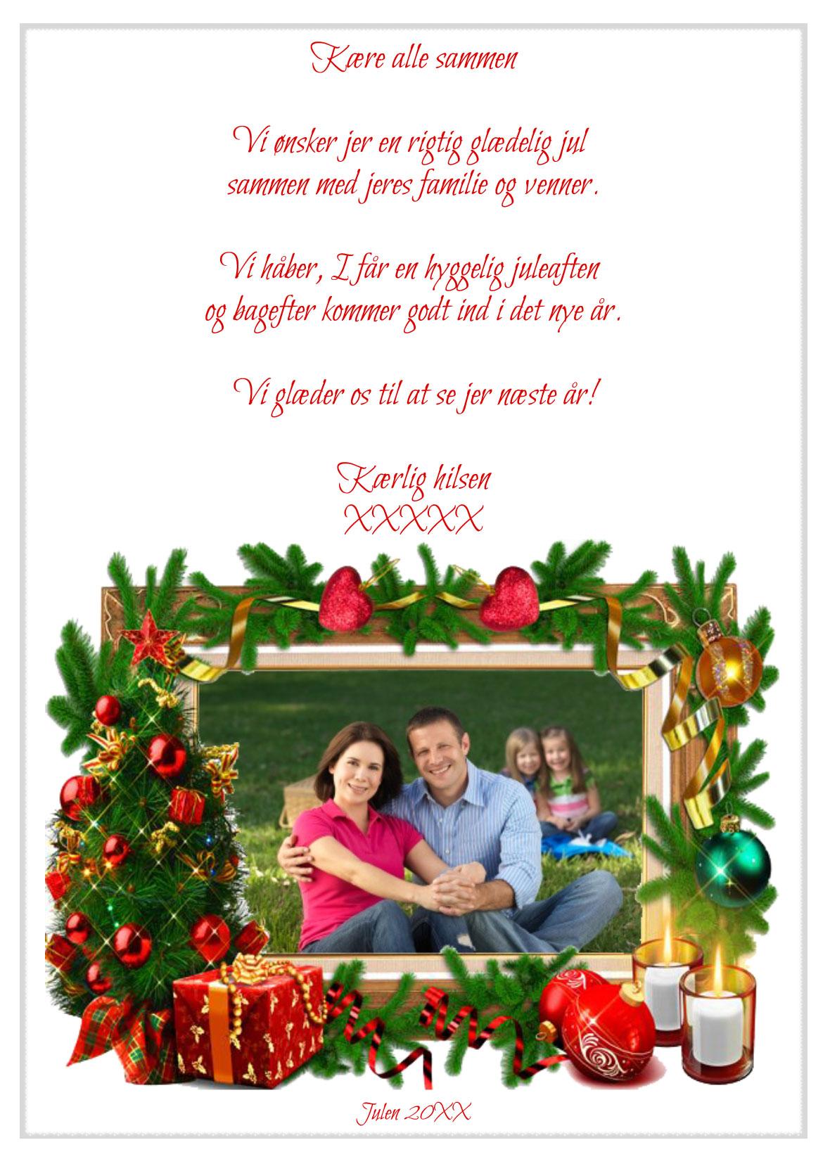 Julekort med musik og sang nr 8