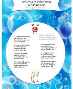 Sæbeboble sangen til fødselsdag til en mand