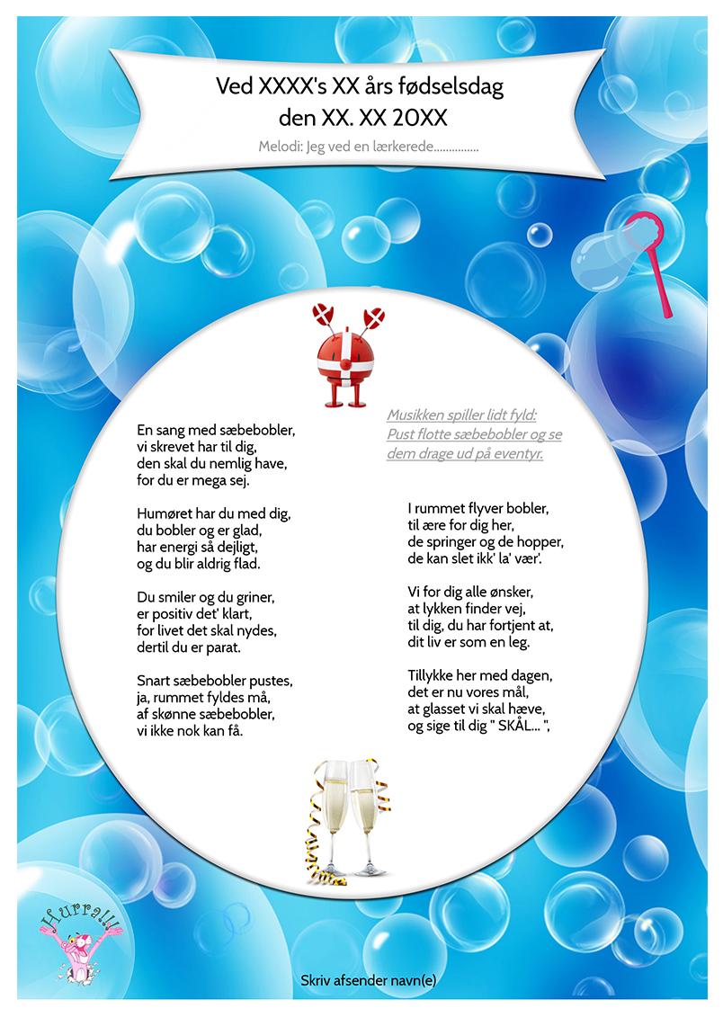 Sæbeboble sangen til en drenge