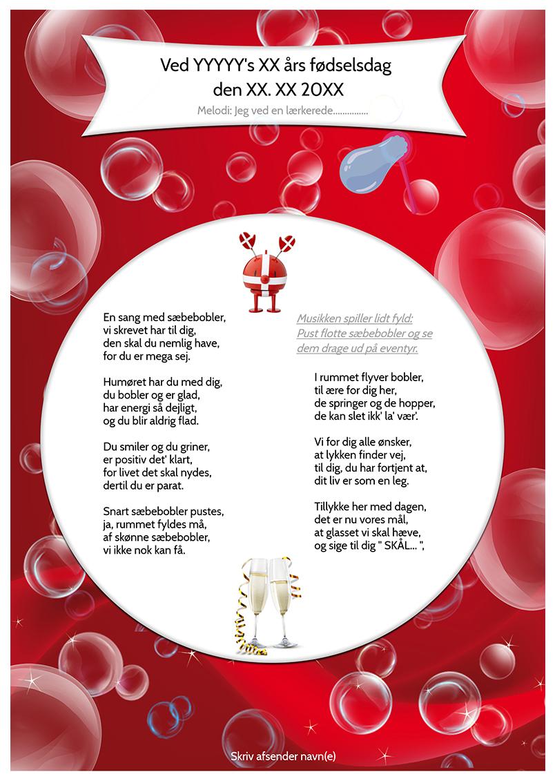 Sæbeboble sangen til en pige