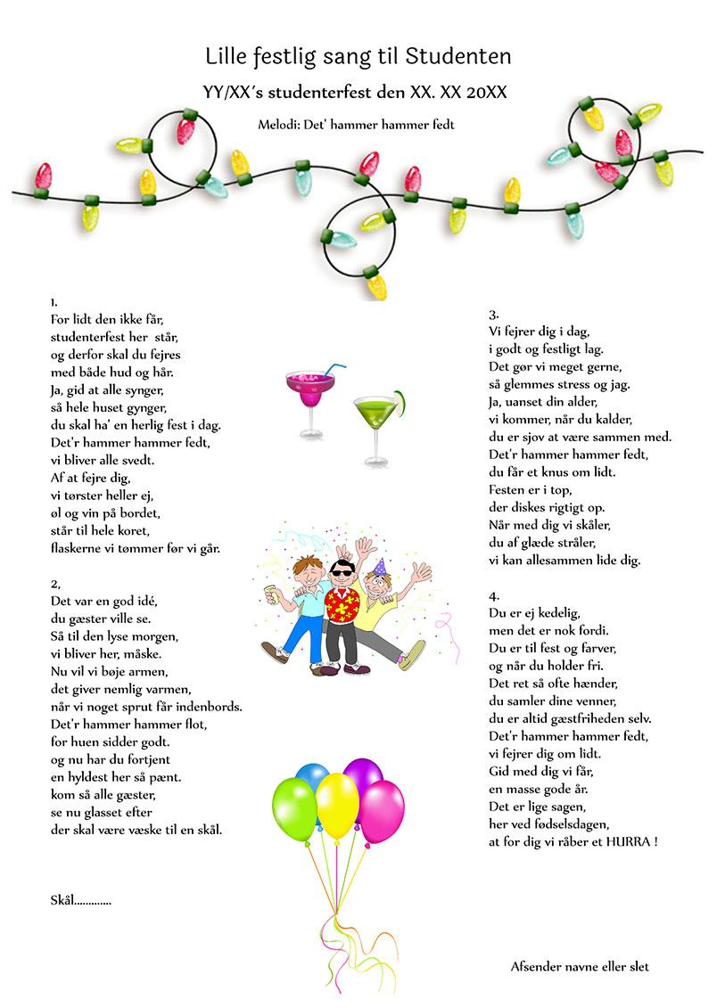 Lille festlig sang til studenten
