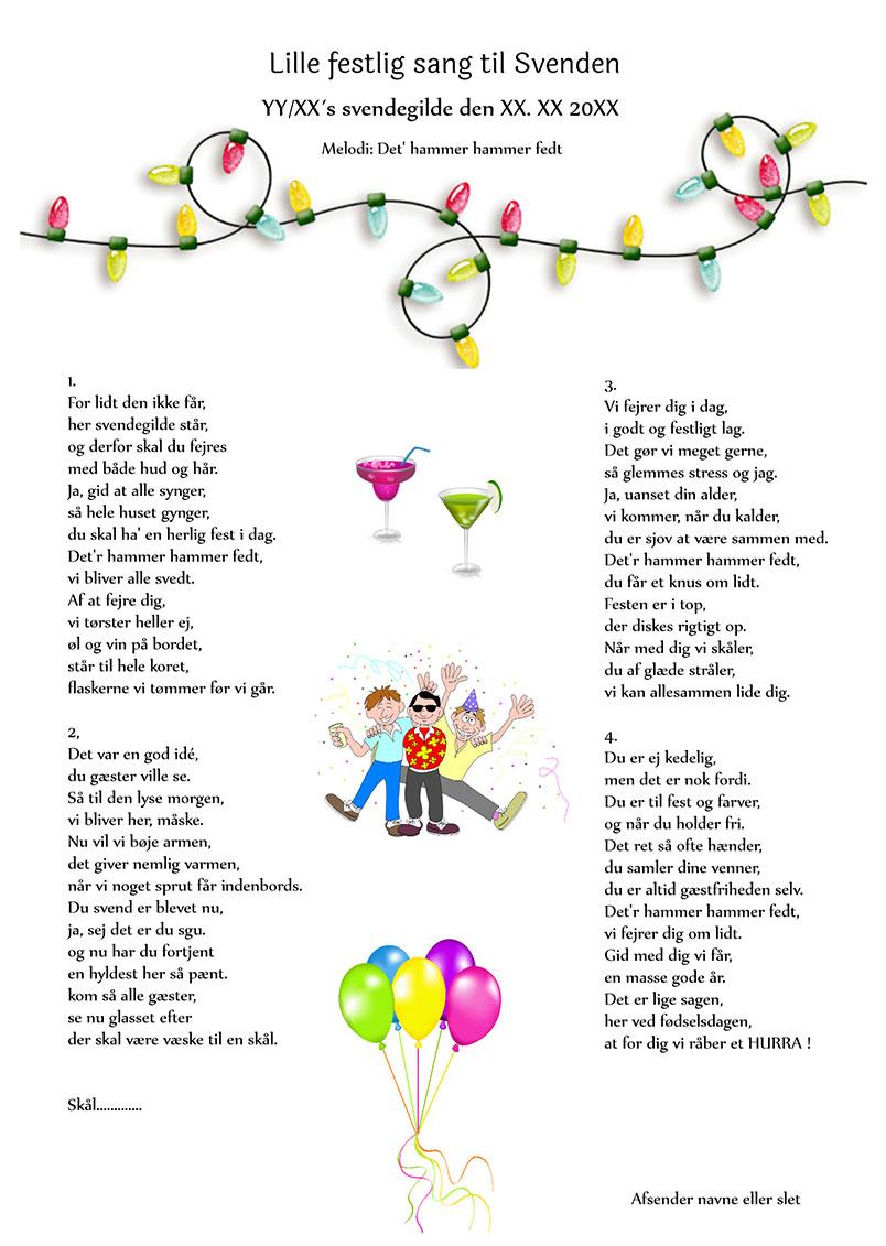 Lille festlig sang til svenden
