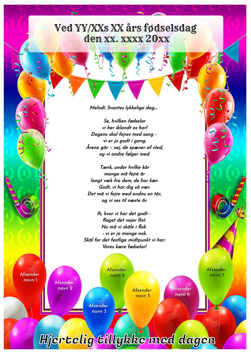 Fødselsdagssang til vopksne