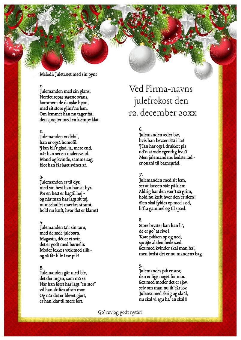 En vulgær julesang