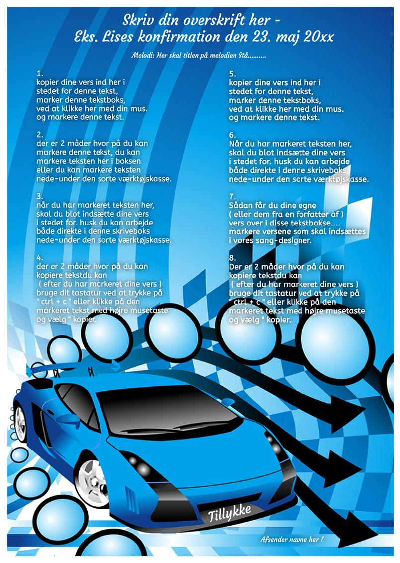 Design nr 5 - Blå bil