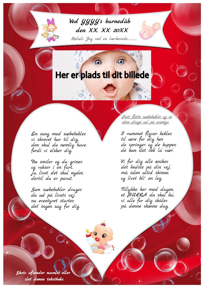 Sæbeboblersangen til barnedåb
