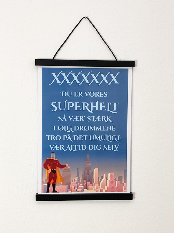 Superhelte plakat