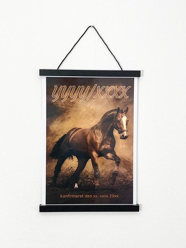 Heste plakat til konfirmanden 2