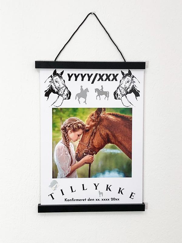 Heste plakat til konfirmanden