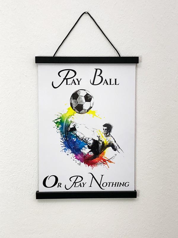 Fodbold plakat til konfirmanden