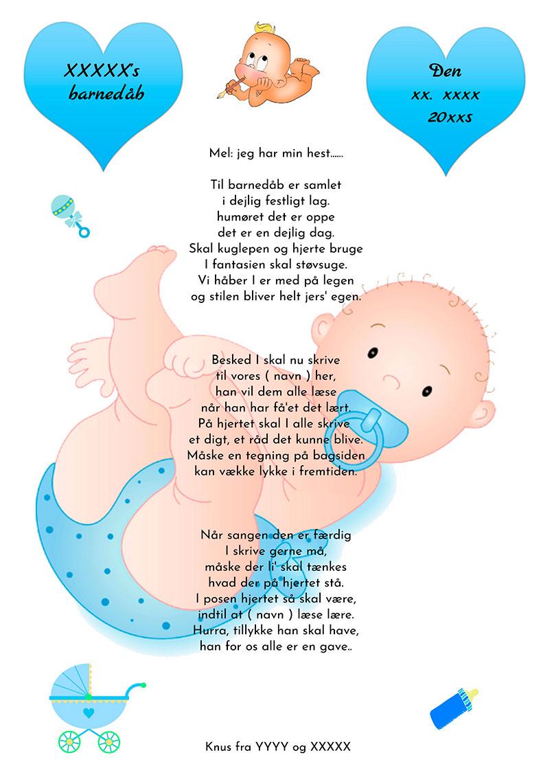 Hjertesang til barnedåb - dreng