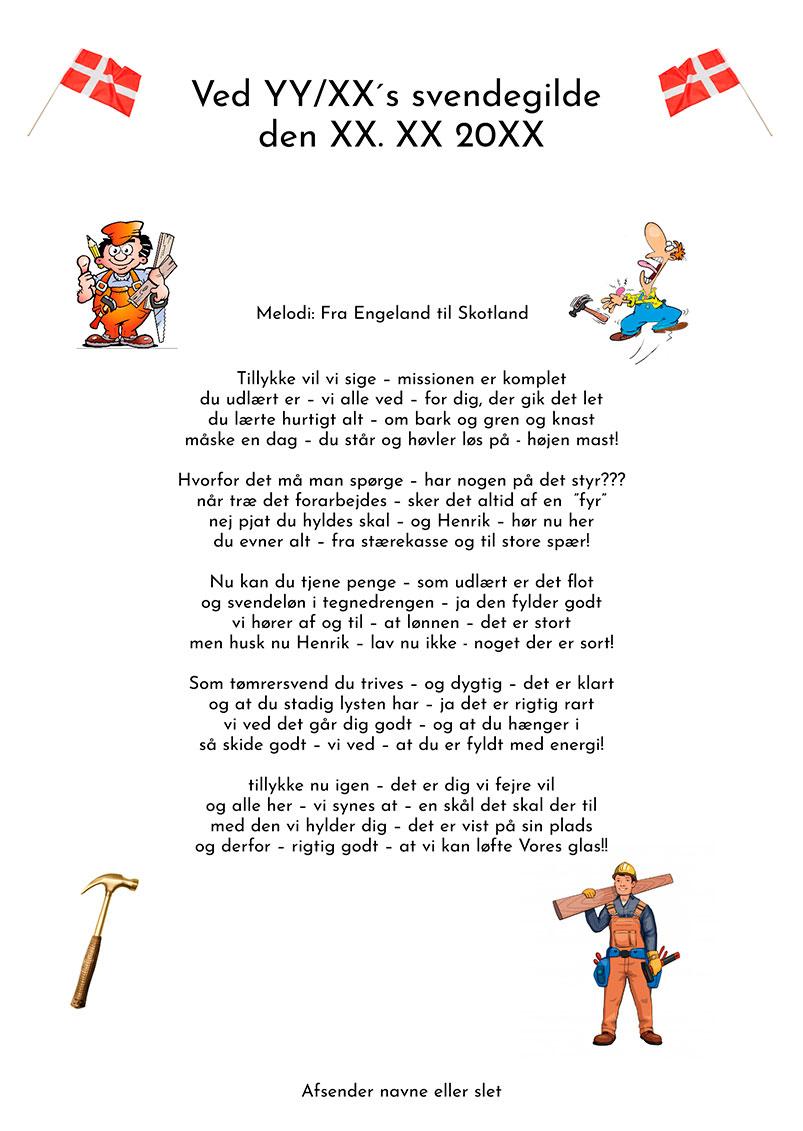 Tømrer uddannelse festsange